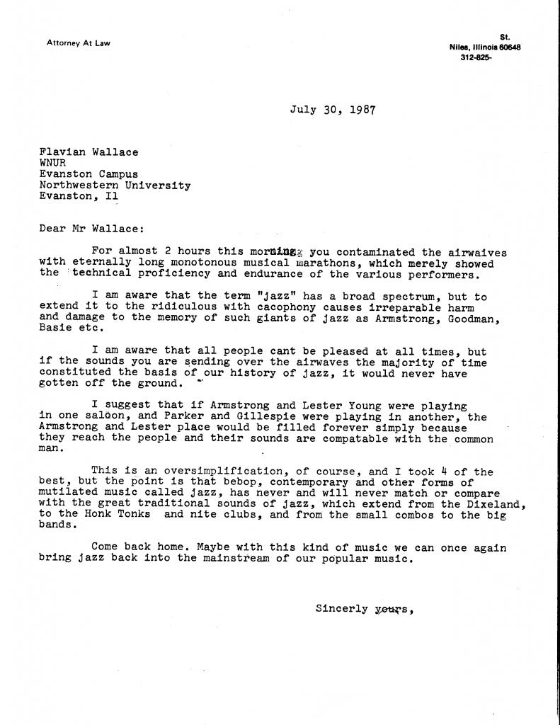 1987 listener letter